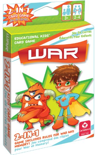 2 In 1 Card Game War & Memory by Carta mundi - 1