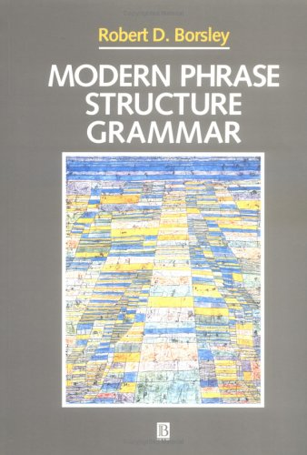 Modern Phrase Structure Grammar (Blackwell Textbooks in Linguistics)
