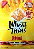Nabisco Wheat Thins Original Snack Crackers 21 gram Whole Grain 2 Bags of 20oz