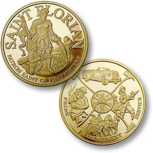 St. Florian - Fireman Theme MerlinGold Challenge Coin