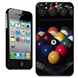 Pool Table Balls Ready To Play With Cues Hard Case Clip On Back Cover For Apple iPhone 4 4S