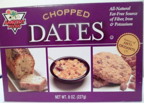 Chopped Dates, 8 Oz (Pack of 3) Amport Foods (Amport Foods compare prices)