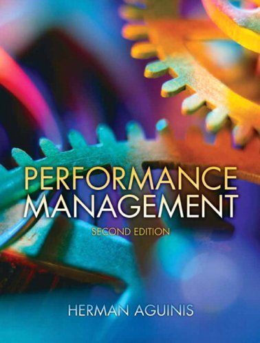 Performance Management (2nd (second) Edition), by Herman Aguinis