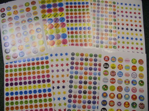 1000-childrens-reward-chart-smiley-face-well-done-stickers