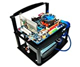 DIYPC Alpha-GT3 Black Acrylic and Aluminum ATX Bench Case Bench Computer Case for ATX/Micro ATX motherboard - PC components not included