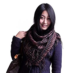 Anuze Fashions New Styles Scarves Arab Shemagh Arafat Scarf For Women's And Girl's (BROWN ARAFAT-KLXE03-2QMFG2)
