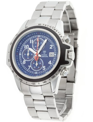 Detomaso Mantova G-30817-D Men's Analog Quartz Watch with Chronograph, Ceramic Dial