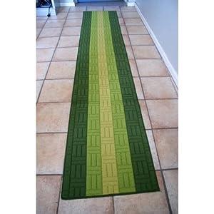tapis chemin de couloir 57 x 290 cm vert