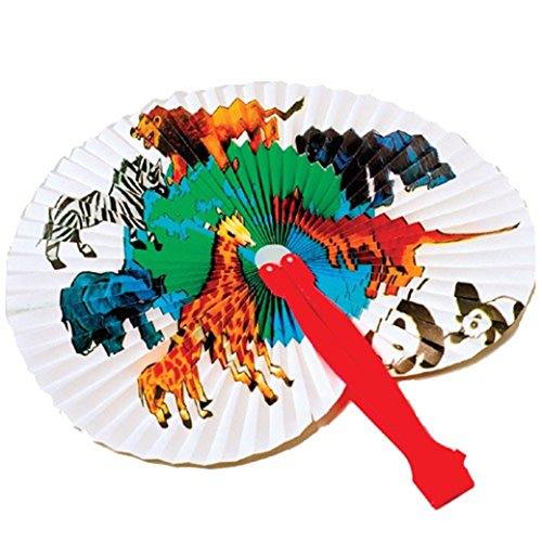 Lot Of 12 Traditional Japanese Style Assorted Animal Designs Paper Folding Fans