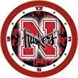 "Nebraska Cornhuskers Suntime 12"" Dimension Glass Crystal Wall Clock - NCAA College Athletics"
