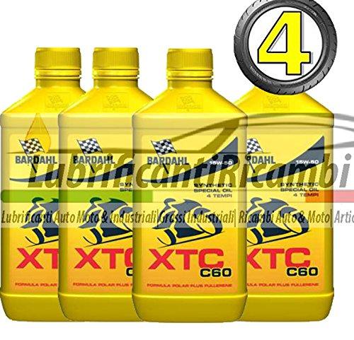 4-LT-OLIO-motore-moto-4t-BARDAHL-BARDHAL-XTC-C60-15W50-100-Sintetico-Shell-Advance-Helmet-Visor-Spray-Pulitore-casco-Finestrini-auto-piastrelle-specchi-e-vetri-casa