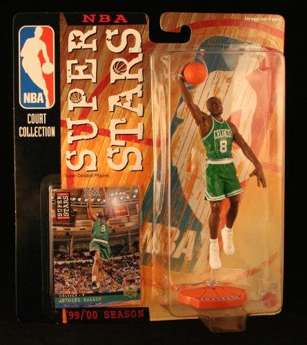 ANTOINE WALKER / BOSTON CELTICS * 99/00 Season * NBA SUPER STARS Super Detailed Figure, Display Base & Exclusive Upper Deck Collector Trading Card