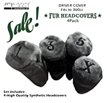 Fur Golf Club Headcovers - Gray / Grey - 4 Pack - Barrel Style *Fits Up to 360cc*