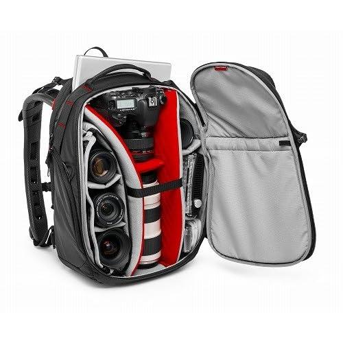 manfrotto カメラリュック Pro-lightコレクション PL ミニビー120バックパック 19L エレメントカバー付属 三脚取付け可 PCスペース有 ブラック MB PL-MB-120