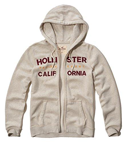 Hollister giacca con cerniera e felpa con cappuccio Cream CA Medium