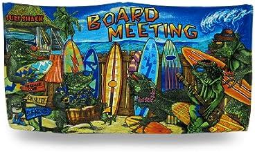 Iguana Surfers Board Meeting Cotton Beach Towel 30 X 58 In