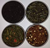 Heavenly Tea Leaves Mothers Day Tea Sampler Gift Set - 4 Bestselling Cans - Approximately 25 Servings of Tea Per Can