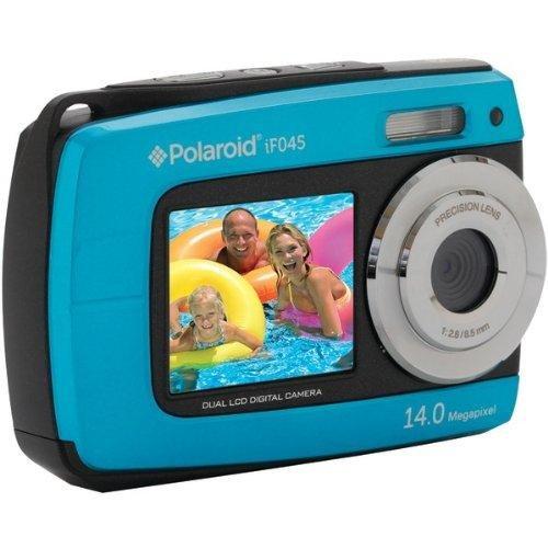 Polaroid IF045-BLUE-KM 14MP Dual Screen Waterproof Digital Camera with 2.7-Inch LCD (Blue)