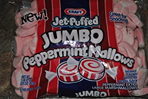 Kraft Peppermint Jet Puffed Jumbo Size Marshmallows