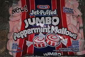 Kraft Peppermint Jet Puffed Jumbo Size Marshmallows