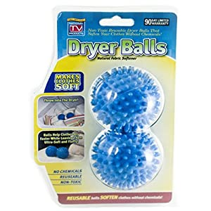 Magic Drying Fluff Balls - Set of 2 Natural Fabric Softening Dryer Balls