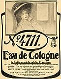 1911 Ad Eau De Cologne Traveling Women Weariness Mulhen - Original Print Ad