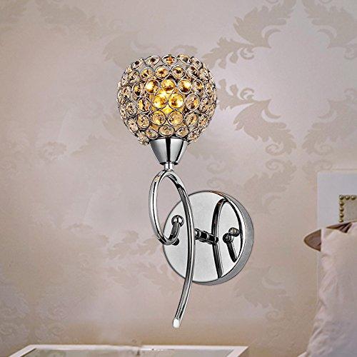 Arts créatifs lampe de chevet moderne de chambre minimaliste miroir mur de cristal