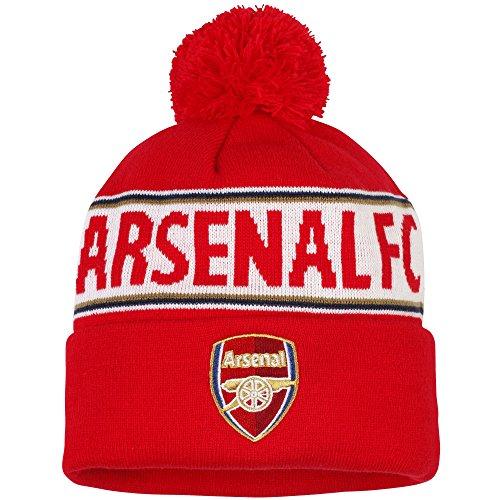 Berretto invernale dell'Arsenal FC - Adulti (Taglia unica) (Rosso/Bianco/Navy)
