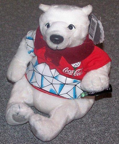1999 Coca Cola Beanie : Polar Bear in Golf Shirt