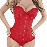 Burlesque Classical Satin Lace Up Corset Basque Wedding Dress bustiers