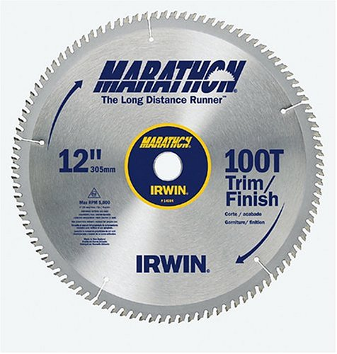 Irwin Industrial Tools 14084 12-Inch 100-Teeth 1-Inch Arbor Miter and Table Saw Blade