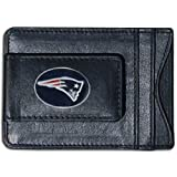 New England Patriots Magnetic Leather Money Clip Wallet