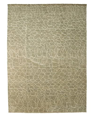 "Darya Rugs Ikat One-of-a-Kind Rug, Green, 9' 2"" x 11' 10"""