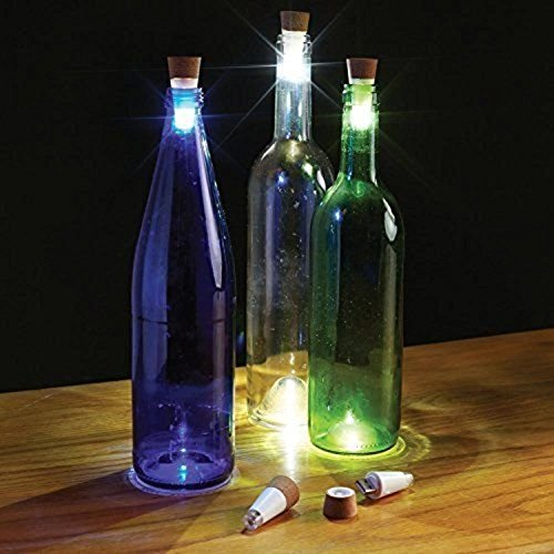 Bestgoo® 2 Pack USB Powered Rechargeable Wine Bottle Decorations LED Light Party Bottle Lights