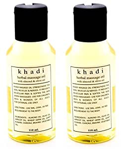 Khadi Herbal Massage Oil with Almond and Olive Oil