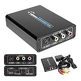 HDMI to S Video Composite 3RCA AV Converter AV RCA CVBS/L/R Video Audio Converter Adapter PAL / NTSC CVBS Converter Adapter Support 1080P Support DVD PS2 PS3 Xbox HDTV