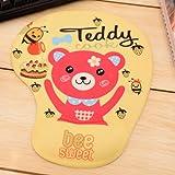 可愛い クマさん & ハチさん デザイン リストレスト付き マウスパッド