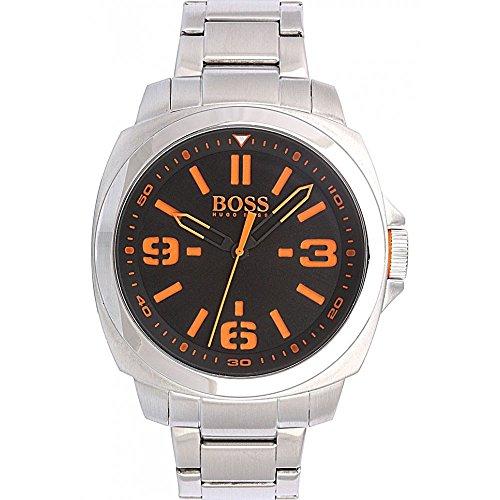 Boss  - Reloj de cuarzo para hombre, correa de acero inoxidable color plateado