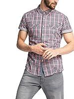 edc by ESPRIT Camisa Hombre (Rosa)