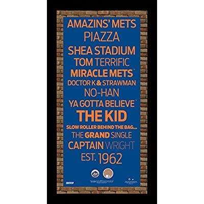 MLB Subway Sign with Field Dirt New York Mets