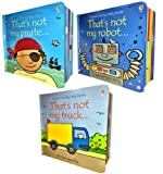 Fiona Watt & Rachel Wells Usborne That's Not My- Boy's Pack 3 Books Set Collection