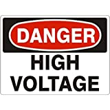 Noticester D-372614 HIGH VOLTAGE DANGER Signs - 3x5 Vinyl Sticker [Pack of 2]