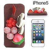 docomo au SoftBank iPhone5 iPhone5S 対応 食品サンプル iPhone ケース カバー ジャケット (チョコケーキ)