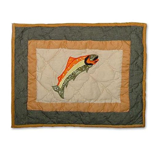 Patch Magic 16-Inch by 12-Inch Fly Fishing Crib Toss Pillows - 1