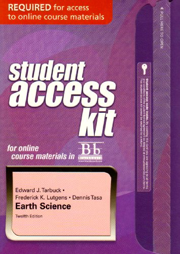 Blackboard Student Access Kit for Earth Science