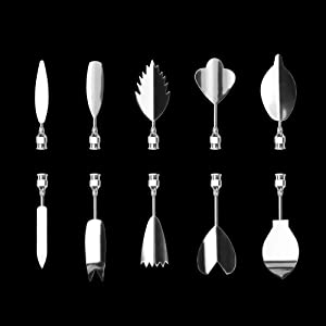 LOHOME 3D Gelatin Art Tools - Set of 10-pieces Jelly Cake Stainless Steel Needles Coming with One 10ml Syringe - Pudding Pastry Nozzles (Flower Shape 9) (Color: Flower Shape 9)