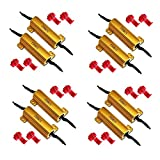 HAMIST 50W 6Ohm LED Load Resistors for LED Turn Signal Lights or LED License Plate Lights 4 pair (Fix Hyper Flash, Warning Cancellor)
