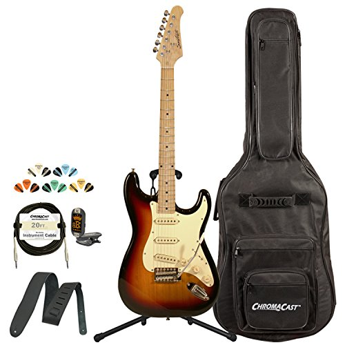 Sawtooth St-Es60-Sbw-Kit-1 Classic Es 60 Alder Body Electric Guitar - Sunburst With Gig Bag, Cable, Picks, Strap, Tuner And Stand