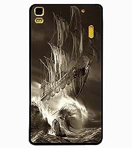 ColourCraft Ship Design Back Case Cover for LENOVO K3 NOTE