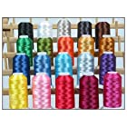 20 Cone Set Polyester Embroidery Thread 1000m Spools - Essential Colors (4 different sets available)
